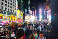 Area around Times Square at night Royalty Free Stock Images