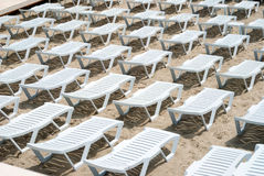 Area of a beach for comfortable rest Royalty Free Stock Images