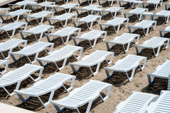 Area of a beach for comfortable rest Stock Images