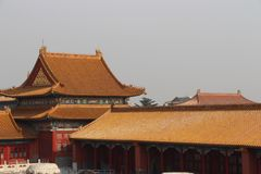Roofs and ornaments of The Forbidden City.4. stock photography