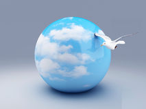 Area of blue sky 3d Royalty Free Stock Photography