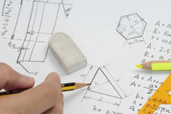 Area calculation Stock Photography