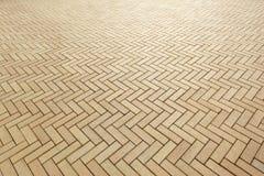 Area of ceramic bricks herringbone pattern Royalty Free Stock Image