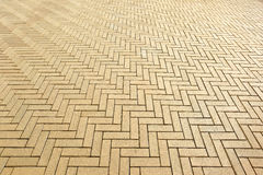 Area of ceramic bricks herringbone pattern Stock Images