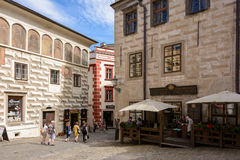 Area in Cesky Krumlov, Czech Republic Stock Images