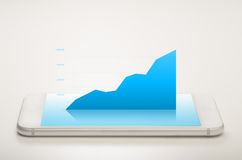 Area Chart Mobile Stock Image