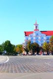 Area in Chernihiv town and building of Court of Appeal. Chernihiv / Ukraine. 28 August 2016: beautiful central square in Chernihiv with beautiful building of Stock Image