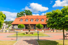 The area of the church of the Holy Trinity and Dominican  Monastery. Liskiava Royalty Free Stock Images