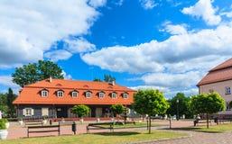 The area of the church of the Holy Trinity. Liskiava. Lithuania Stock Photo