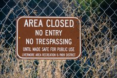Area closed, No entry, No trespassing royalty free stock images