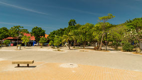 The area in a coastal resort zone on island To Lan in Pattaya Stock Photo