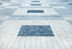 Area covered with stone tiles Royalty Free Stock Photography