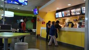 Area d'ordinazione di McDonald's fotografie stock libere da diritti