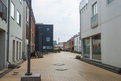Area degli alloggi nuovi in Vastra Hamnen Malmo Svezia Fotografie Stock Libere da Diritti