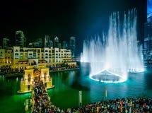 Area del centro della fontana nel Dubai, Emirati Arabi Uniti Immagini Stock
