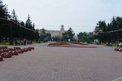Area del conteggio Speransky a Irkutsk Immagine Stock