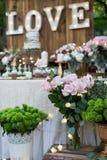 Area del dessert di nozze Immagine Stock