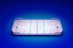 Area del hockey su ghiaccio Fotografia Stock