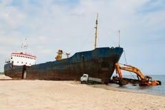 Area del naufragio Fotografia Stock Libera da Diritti