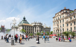 Area del pedone di Monaco di Baviera Fotografie Stock Libere da Diritti