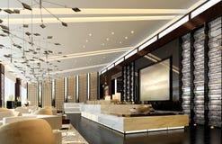 Area del salotto, un ristorante di lusso Royalty Illustrazione gratis