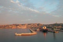 Area dell'acqua del porto del carico Marsiglia, Francia immagine stock libera da diritti