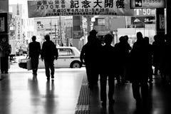 Area dell'entrata della stazione ferroviaria della metropolitana fotografia stock