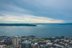 Area della baia di Seattle Fotografia Stock Libera da Diritti