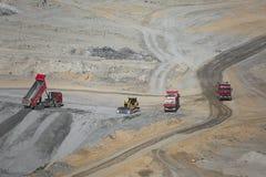 Area della miniera di carbone Immagine Stock
