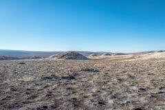 Area della valle della luna - deserto di Atacama, Cile delle saline di Las fotografia stock libera da diritti