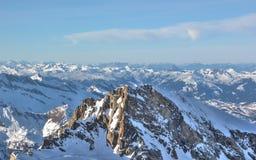"""Area dello sci della montagna di Kitzsteinhorn del †favoloso di viste """", Austria Fotografia Stock"""