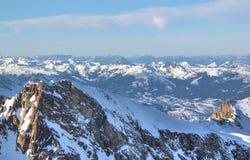 """Area dello sci della montagna di Kitzsteinhorn del †favoloso di viste """", Austria Immagine Stock"""