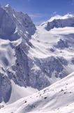 Area dello sci sul ghiacciaio di Rettenbach, Solden, Austria Immagine Stock Libera da Diritti