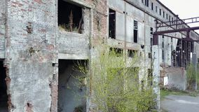 Ruins Of The Destroyed Building Or Premises stock video