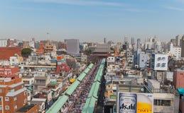 Area di Asakusa Fotografie Stock Libere da Diritti