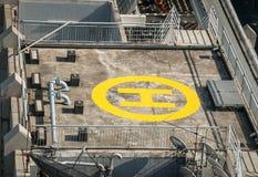Area di atterraggio dell'elicottero fotografie stock