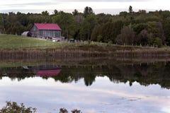 Area di conservazione della collina del giardino - la contea di Northumberland, Ontario Immagine Stock