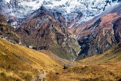 Area di conservazione di Annapurna Immagini Stock