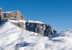 Area di corsa con gli sci nelle alpi delle dolomia Fotografia Stock Libera da Diritti