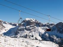 Area di corsa con gli sci nelle alpi delle dolomia Fotografie Stock Libere da Diritti
