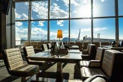 Area di disposizione dei posti a sedere del salotto dell'aeroporto Fotografia Stock