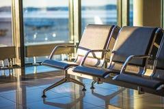 Area di disposizione dei posti a sedere dell'aeroporto Immagine Stock Libera da Diritti