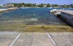Area di lancio della barca Immagini Stock