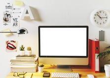 Area di lavoro creativa moderna Immagini Stock Libere da Diritti