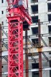 Area di lavoro della costruzione parzialmente Fotografie Stock