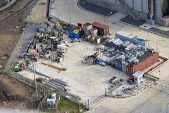 Area di Laydown a stoccaggio i pezzi di ricambio Immagine Stock