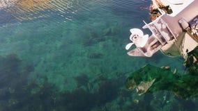Area di mare vicino all'indicazione chiara di beppu della baia del porticciolo della gestione ambientale di spreco e pubblico ecc Fotografie Stock