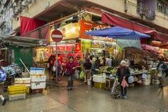 Area di Mong Kok in Hong Kong Fotografia Stock