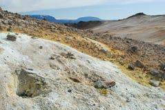 Area di Namaskard, vicino al lago Myvatn, l'Islanda Fotografia Stock Libera da Diritti