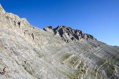 Area di Olympus Zonaria della montagna in Grecia Fotografia Stock